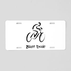 Biker Dude Aluminum License Plate