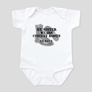 My Sister Wears Navy CB Infant Creeper
