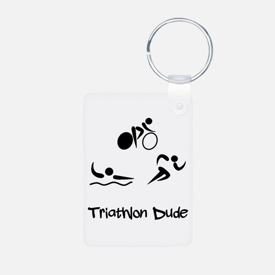 Triathlon Dude Keychains