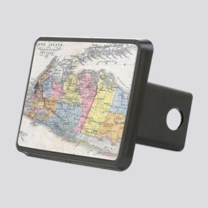 Vintage Map of Long Island Rectangular Hitch Cover