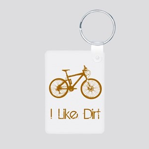 I Like Dirt Aluminum Photo Keychain