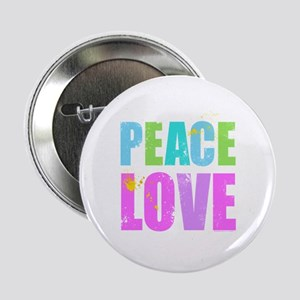 """Inked Peace and Love 2.25"""" Button"""