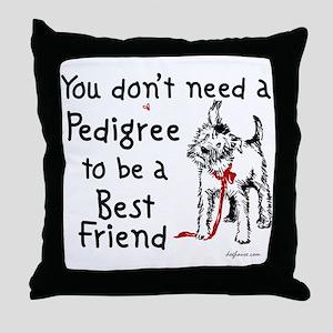 No Pedigree Needed Throw Pillow