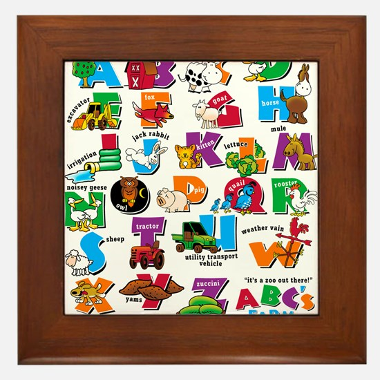 ABC Farm Framed Tile