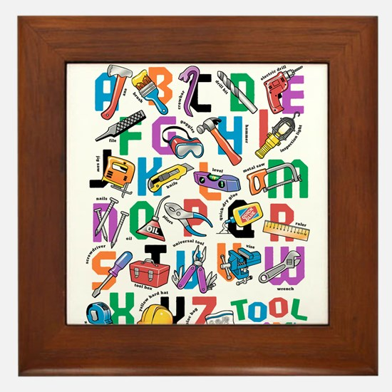 ABC Tools Framed Tile