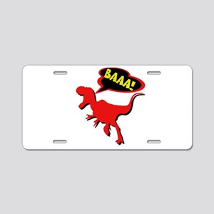 Funny Dinosaur Aluminum License Plate