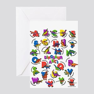 ABC Dinos Greeting Card