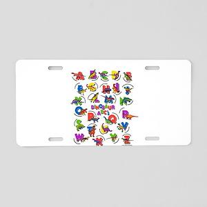 ABC Dinos Aluminum License Plate