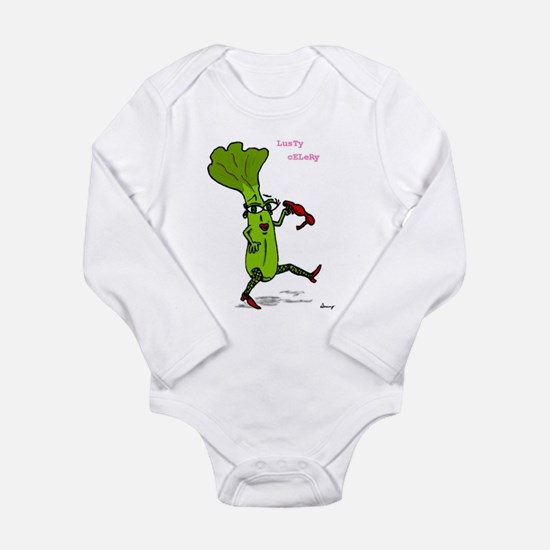 Lusty Celery Long Sleeve Infant Bodysuit