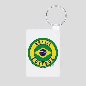 Brasil Futebol/Brazil Soccer Aluminum Photo Keycha