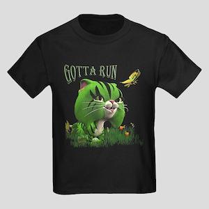 Gotta Run Kitty Kids Dark T-Shirt
