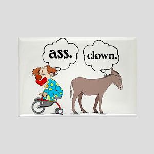 Ass Clown Rectangle Magnet