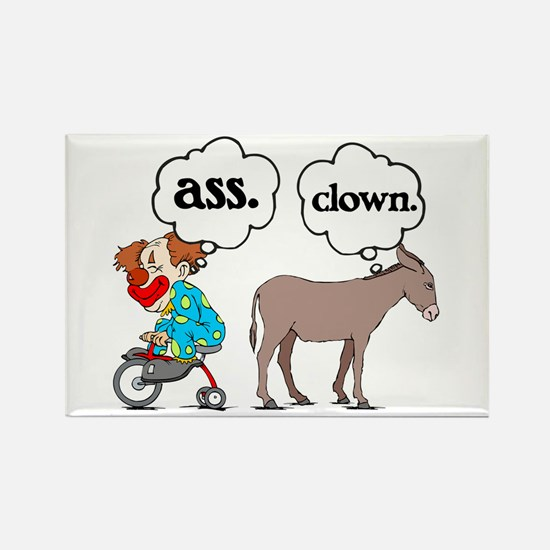 Ass Clown Rectangle Magnet