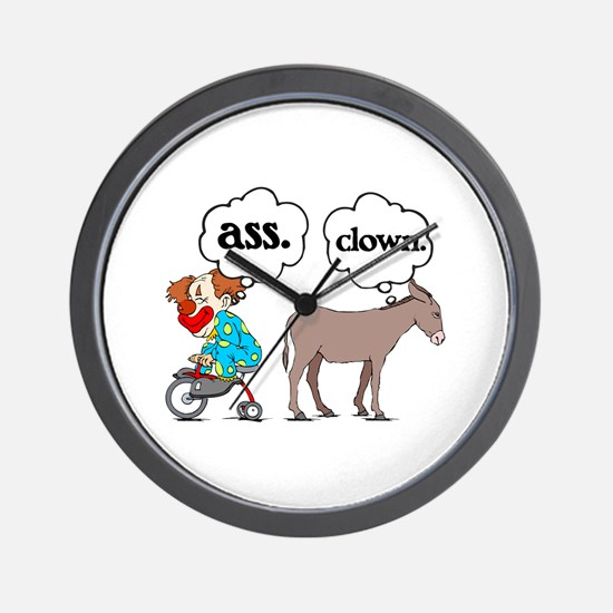 Ass Clown Wall Clock