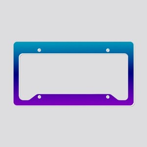 Aqua Ombre License Plate Holder