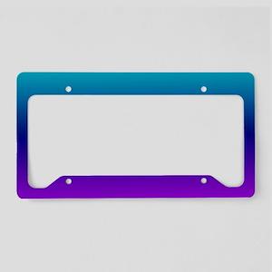 Aqua Ombre License Plate Holder