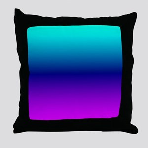 Aqua Ombre Throw Pillow