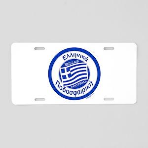 Greece Hellas Soccer/Football Aluminum License Pla