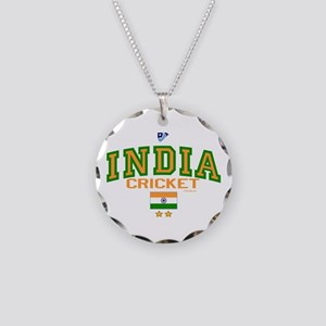 IN India Indian Cricket Necklace Circle Charm
