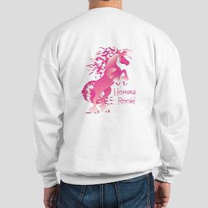 Horses Rock Pink Sweatshirt