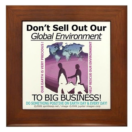 Rescue Our Environment Framed Tile