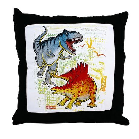 T-Rex fight Throw Pillow