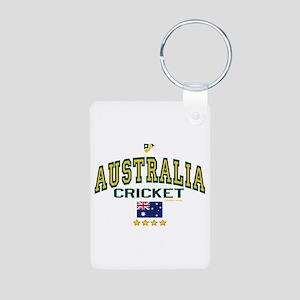 AUS Australia Cricket Aluminum Photo Keychain