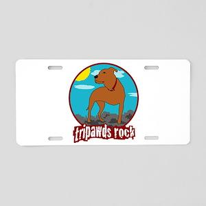 Tripawds Rock (Trouble) Aluminum License Plate