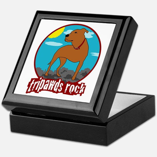 Tripawds Rock (Trouble) Keepsake Box