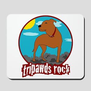 Tripawds Rock (Trouble) Mousepad