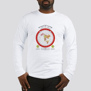New Flat Stationary Earth Map Long Sleeve T-Shirt
