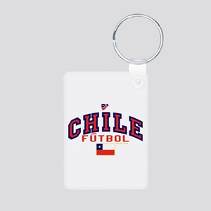 CL Chile Futbol Soccer Aluminum Photo Keychain