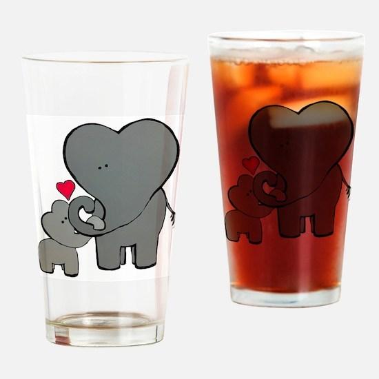 Unique Dad elephant Drinking Glass