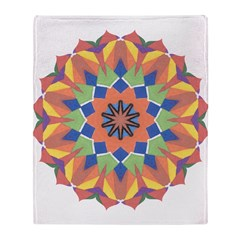 A Colorful Lotus Shape Throw Blanket