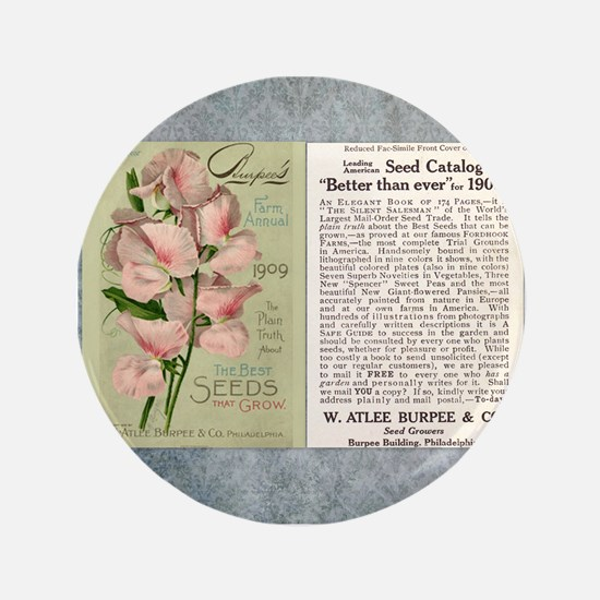 "Vintage Burpee's Ad 3.5"" Button"