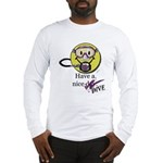 Diving Smiley - pink Long Sleeve T-Shirt