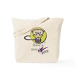 Diving Smiley - pink Tote Bag