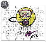 Diving Smiley - pink Puzzle