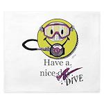 Diving Smiley - pink King Duvet