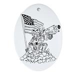 Robot Monkey Oval Ornament