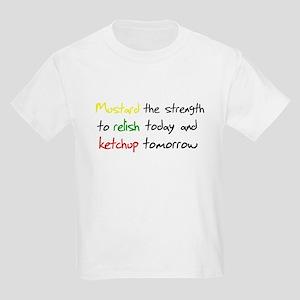 Mustard the strength to relis Kids Light T-Shirt