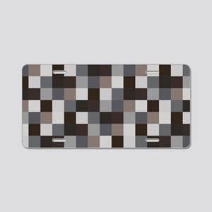 Black Pixelated Pattern | G Aluminum License Plate
