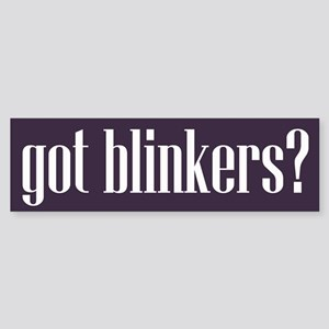 Got Blinkers Bumper Sticker