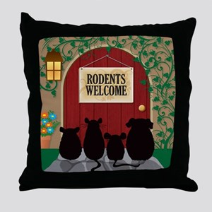 Rodents Welcome Throw Pillow