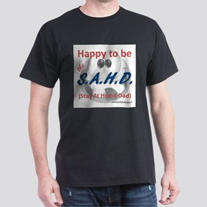 Gray Happy to be SAHD T-Shirt
