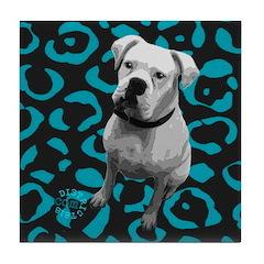 DOG POP ART Tile Coaster