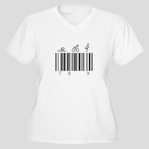 Bar Code 70.3 Women's Plus Size V-Neck T-Shirt