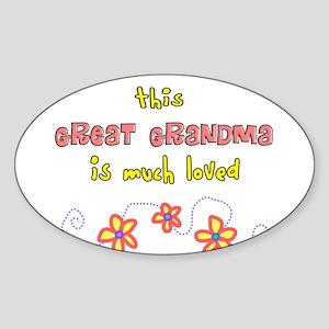 More Grandparents Sticker (Oval)