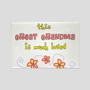 More Grandparents Rectangle Magnet