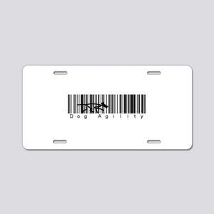 Bar Code Dog Agility Aluminum License Plate
